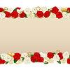 Romantische Blumen-Rahmen