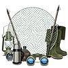 Векторный клипарт: Рыбалка Рамка