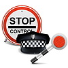 Векторный клипарт: Полиция Кепка с Войти и Батон