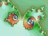 Dekoracyjne tło z spirale fraktali | Stock Illustration