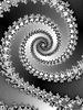 Dekoracyjne Fractal spirali w szarym kolorze | Stock Illustration