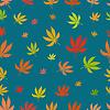 Nahtlose Muster von Blatt Marihuana verschiedenen