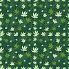 Nahtlose Muster von Blatt Marihuana auf grün