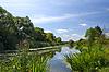 Letni krajobraz z rzeką | Stock Foto