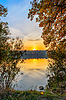 Autumn sunset on lake | Stock Foto