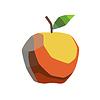 Estilizada manzana | Ilustración vectorial