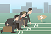 Biznesmen prowadzony | Stock Vector Graphics