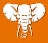 Elefantenkopf | Stock Vektrografik