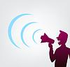 Векторный клипарт: кричать через мегафон