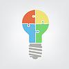 Векторный клипарт: свет лампы головоломки