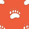 Nahtlose Bären Fußabdruck Muster