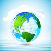 transparent grünen Planeten Wolken Wasser ist sauber