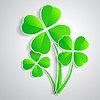 vierblättrige Kleeblatt für Glück Glück grün drei