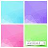 Векторный клипарт: Набор из четырех красочных абстрактных геометрических фон