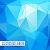 Векторный клипарт: Абстрактные синий треугольник Геометрическая фон,