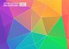 Векторный клипарт: Красочный фон цвет красочные Радуга polygona