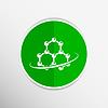 Векторный клипарт: Молекула атома значок элемент символ химия