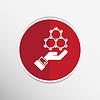 Векторный клипарт: Галочка на руки веб-иконы. дизайн