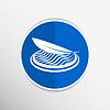 Векторный клипарт: Кнопка стилизованный набор иконок - Значок кнопки ткани
