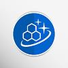 Векторный клипарт: Молекула Иконка Глянцевый блеск атом