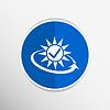 Векторный клипарт: открытый значок время часы расписание доставки день стрелка