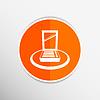 Векторный клипарт: Палитра помад жидкие плоским, квадратной значок