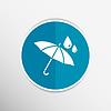 Векторный клипарт: водонепроницаемый значок вода зонтик доказательство символ