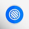 Векторный клипарт: Apps значок металл-углерод углеродного волокна черный Backgroun