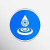 Векторный клипарт: химические иконки падение значок формула элемент воды