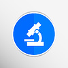 Векторный клипарт: Значок исследования технологии исследования символ знак