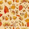 Herbst Komposition mit gelben und roten Blätter
