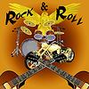 Rock'n'Roll-Schlagzeug mit dem Fahrrad