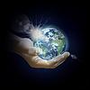 Planeten Erde in der Hand