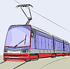 Vector clipart: Tram
