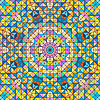 Streszczenie Kolorowe Digital Flower dekoracyjnej.   Stock Vector Graphics