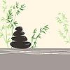 Spa-Konzept Stilisierte Zen Basaltsteinen mit Grün