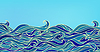 Streszczenie Fale tło, niebieski Kolorowe   Stock Vector Graphics