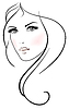Piękna młoda kobieta   Stock Vector Graphics