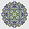 Abstrakcyjna okręgu kolorowe tło. Geometryczny   Stock Vector Graphics