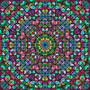 Streszczenie Kolorowe cyfrowe użytkowa Kwiat Gwiazdy. | Stock Vector Graphics