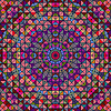Streszczenie Kolorowe cyfrowe użytkowa Kwiat Gwiazdy.   Stock Vector Graphics