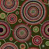 Abstrakte Nahtlose ethnische Art-Kreis Einfache Farb