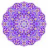 Abstrakt bunten Kreis Hintergrund. Mosaik Runde