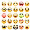 Cartoon Gesichtsausdruck Lächeln Icons Set