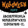 Halloween Font | Stock Vector Graphics