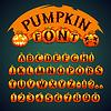 Halloween-Kürbis-Font