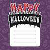 Happy Halloween-Karte mit Text Box