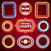 Weihnachts Neon Lights Rahmen mit Textfreiraum Set