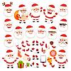 Reihe von Comic-Weihnachtsmann für Ihre Weihnachts Desig