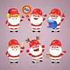 Reihe von Comic-Weihnachtsmann Builders